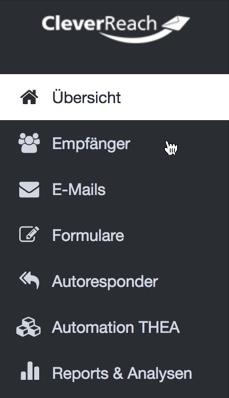 Kontakte exportieren CleverReach: Subscriberlist