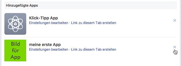Tab von Facebook-Fanpage entfernen: Button-Reiter entfernen
