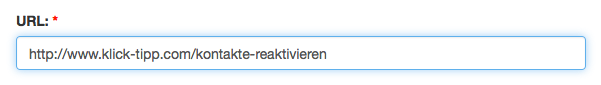 Austragungslinks erstellen: URL einfügen