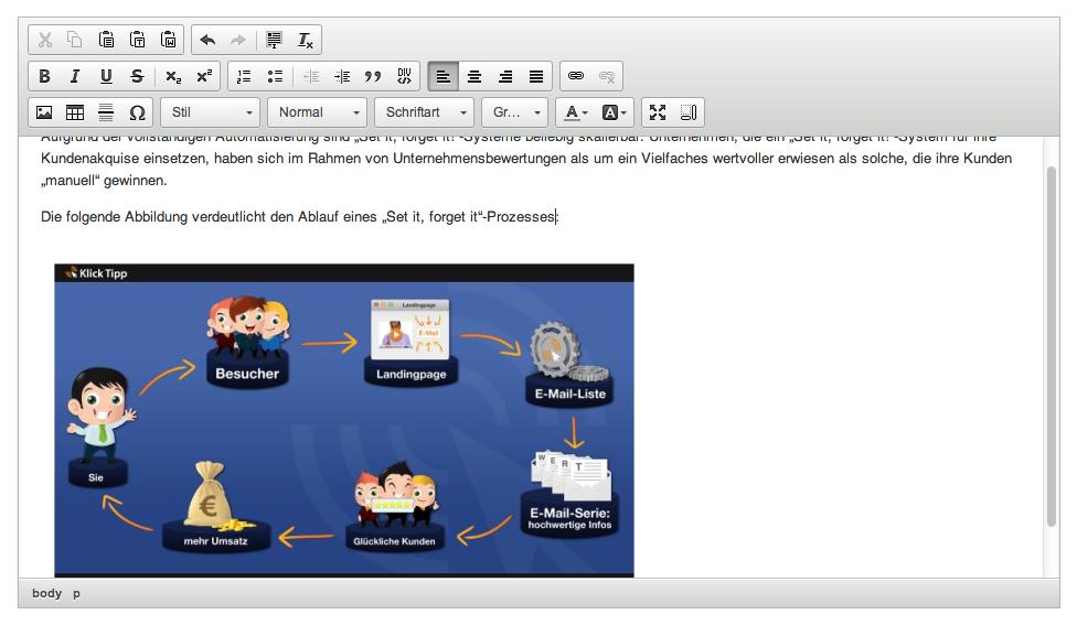 E-Mails mit Bildern versenden: Bild in Newsletter einfefügt