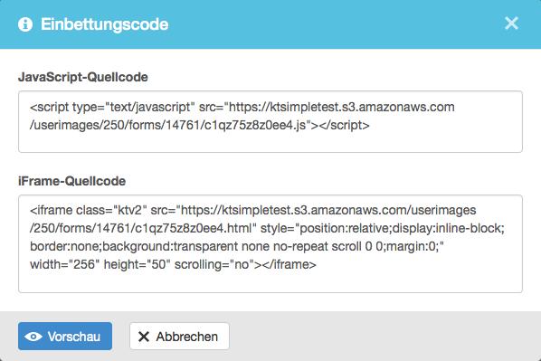 Anmeldeformular: Quellcode kopieren