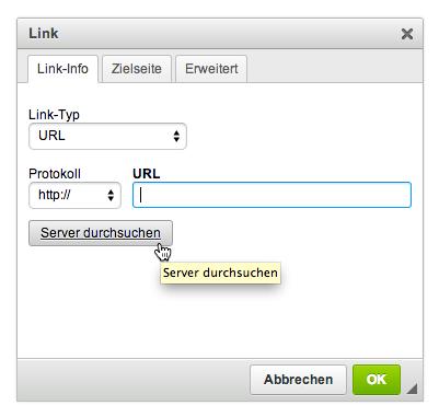 E-Mails mit Bildern versenden: Server durchsuchen
