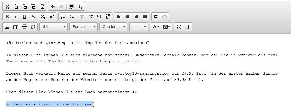 E-Mails mit Bildern versenden: Datei hochladen Icon