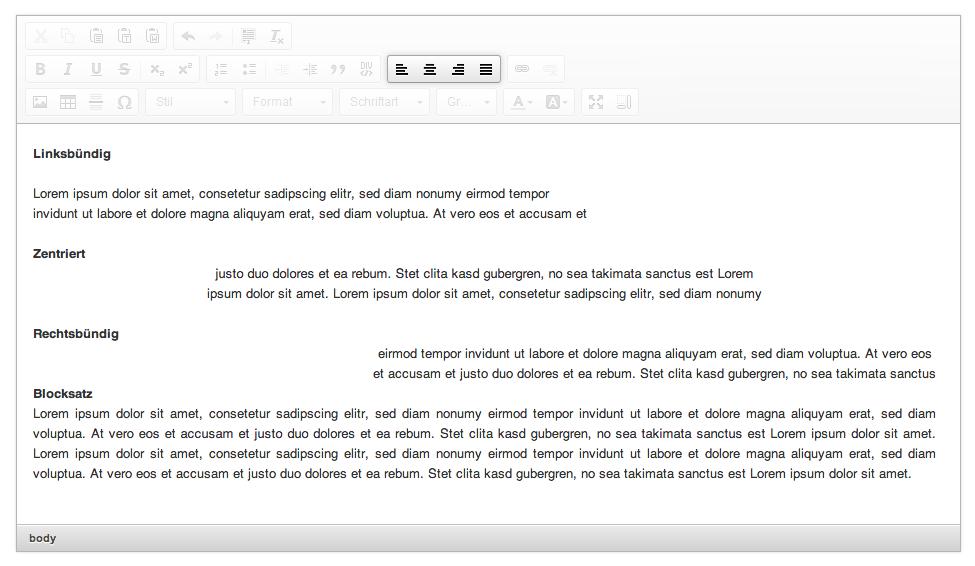 Die Funktionen des HTML-Editors: fünster Menüblock