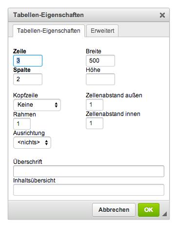 Die Funktionen des HTML-Editors: achter Menüblock