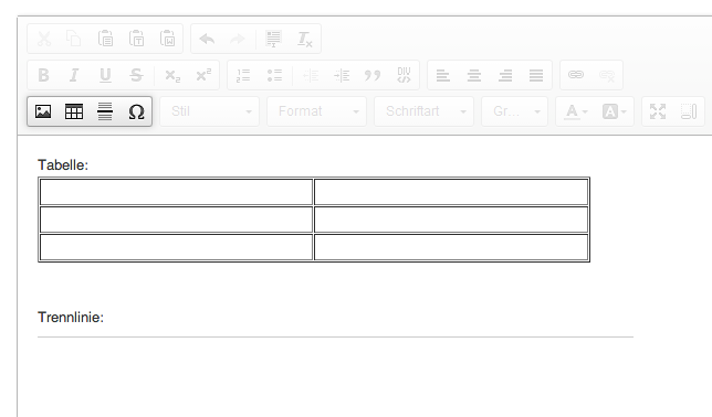 Die Funktionen des HTML-Editors: siebter Menüblock