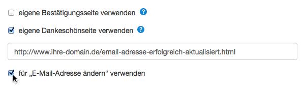 E-Mail-Adresse ändern: Double-Opt-in-Prozess verwenden