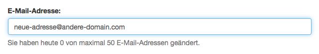 E-Mail-Adresse ändern: E-Mail ändern