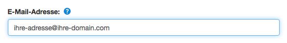 E-Mail-Adresse ändern: Kontakt suchen
