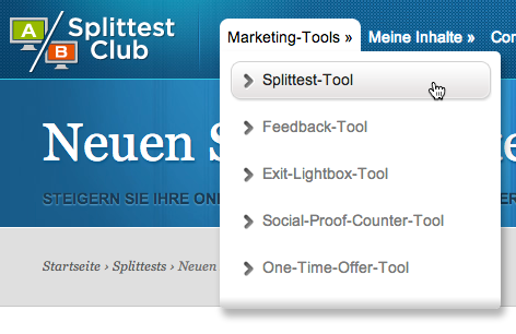 Facebook Fanpage Splittest: Splittest-Tools