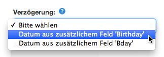 Denn Die E Mail Soll Nur Zum Geburtstag Des Kunden Versendet Werden.
