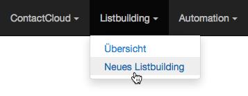 Neues Listbuilding