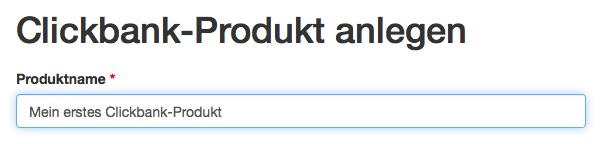 Clickbank Produktinformationen