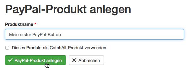 PayPal Produktinformationen