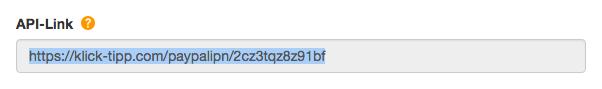 API-Link kopieren