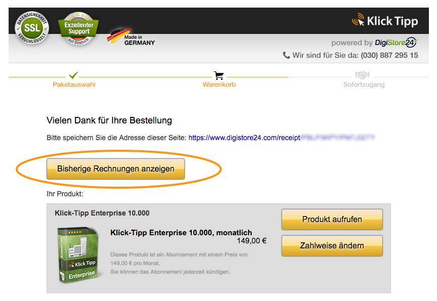 """230cc5a1647269 Wir empfehlen Ihnen ein Lesezeichen mit dem Titel """"Übersicht über meine  DigiStore24 Bestellungen"""" für diesen Link in Ihrem ..."""