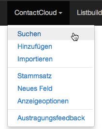 Kontakte exportieren: Suchen