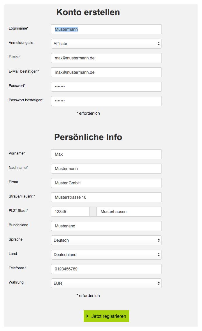 Partnerprogramm Anmeldung - Online Geld verdienen: Digistore24 Anmeldung