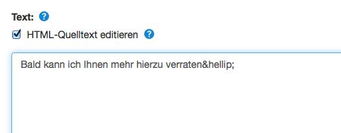 HTML Entity verwenden