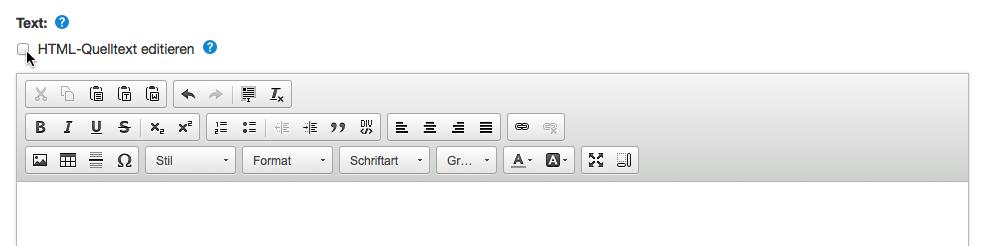 HTML Quelltext editieren