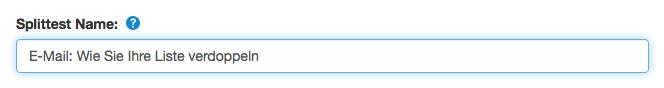 Hauptmerkmal der Splittest-E-Mail festlegen