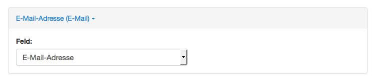 Wufoo: E-Mail-Adresse Feld verknüpfen
