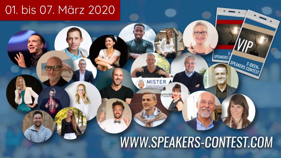 ⭐️ 5 IDEEN SPEAKERS CONTEST 2020 mit Felix Thönnessen, Dr. Rüdiger Dahlke, Steffen Kirchner uvm. ⭐️