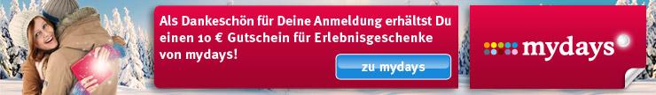 10-Euro-Erlebnis-Gutschein für Dich