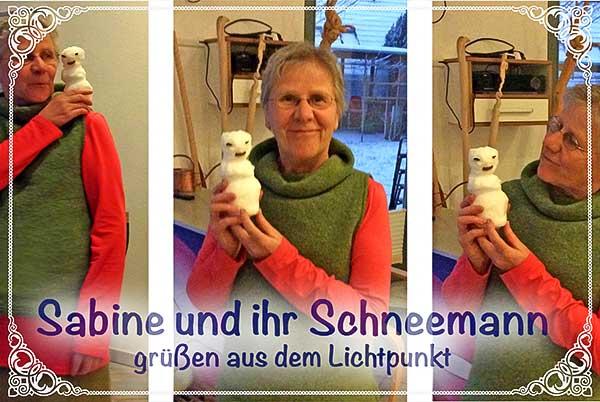 Sabine mit Schneemann